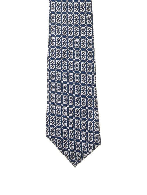 Hermès Silk Tie white
