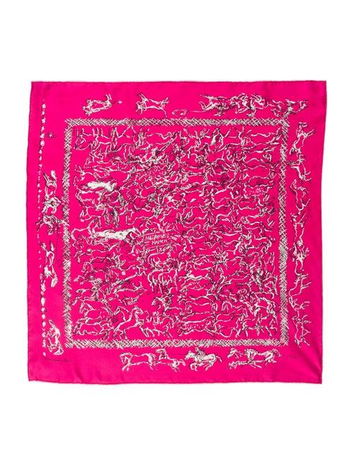 Hermès Ranch Bandana Silk Scarf Pink