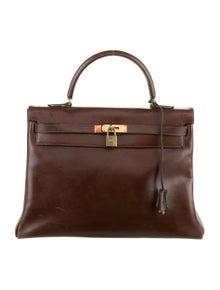 Hermès Vintage Courchevel Kelly Retourne 35