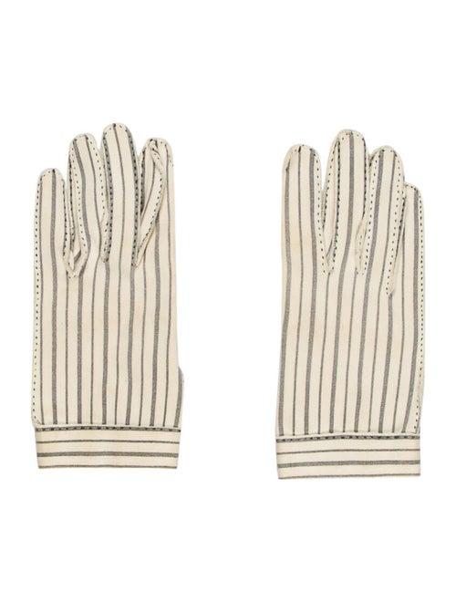 Hermès Vintage Striped Gloves