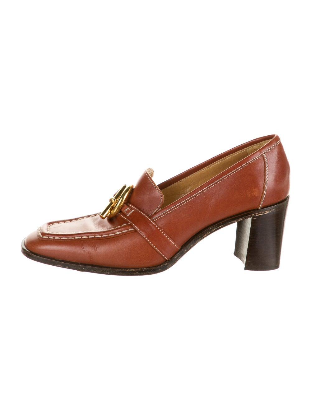 Hermès Vintage Leather Pumps - image 1