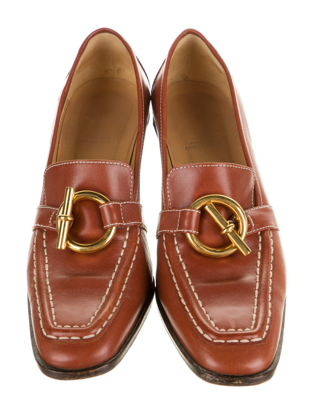 Hermès Vintage Leather Pumps - image 3