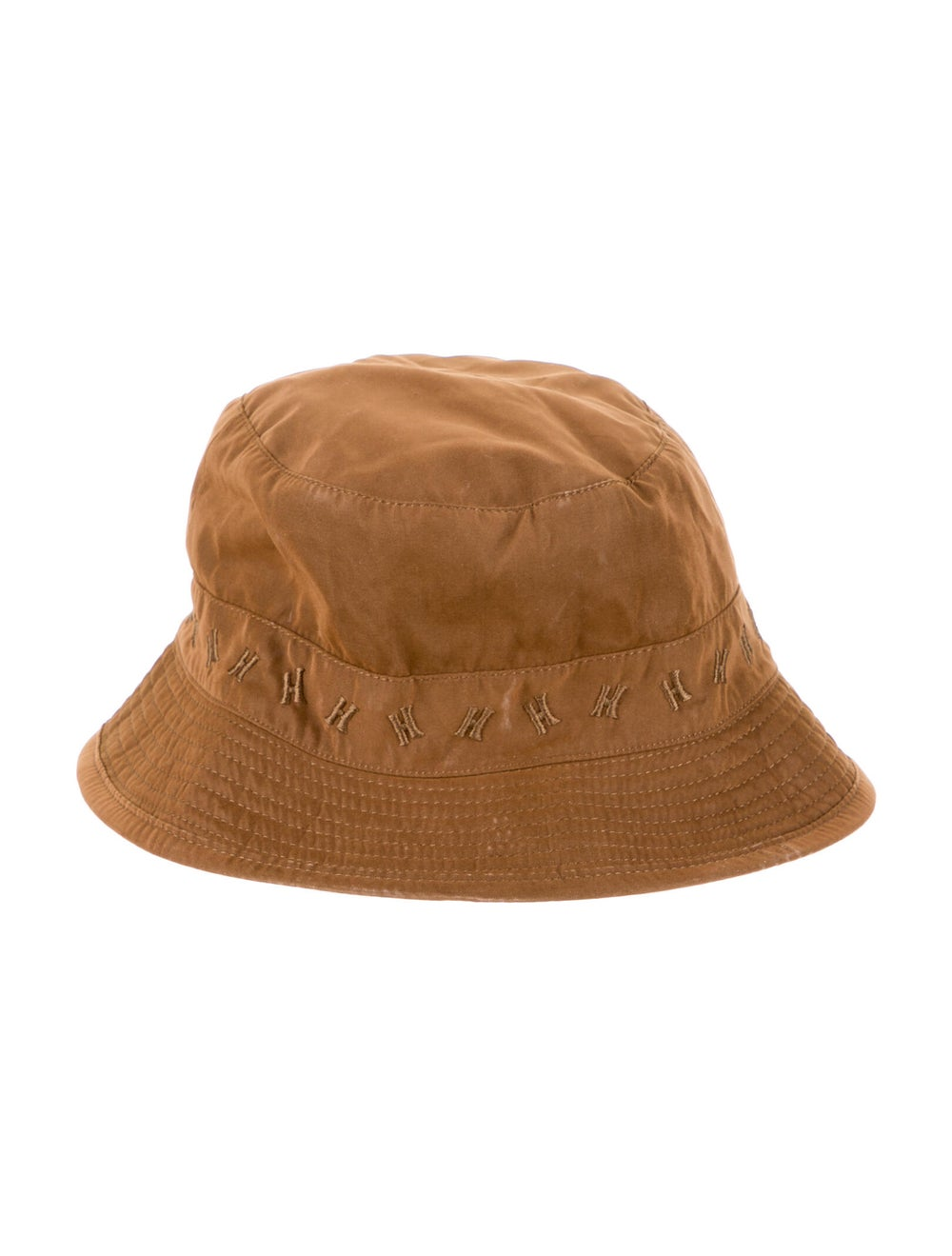 Hermès Logo Woven Bucket Hat Brown - image 1