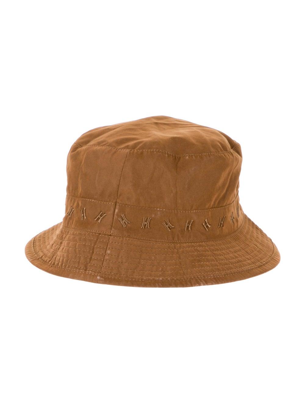 Hermès Logo Woven Bucket Hat Brown - image 2