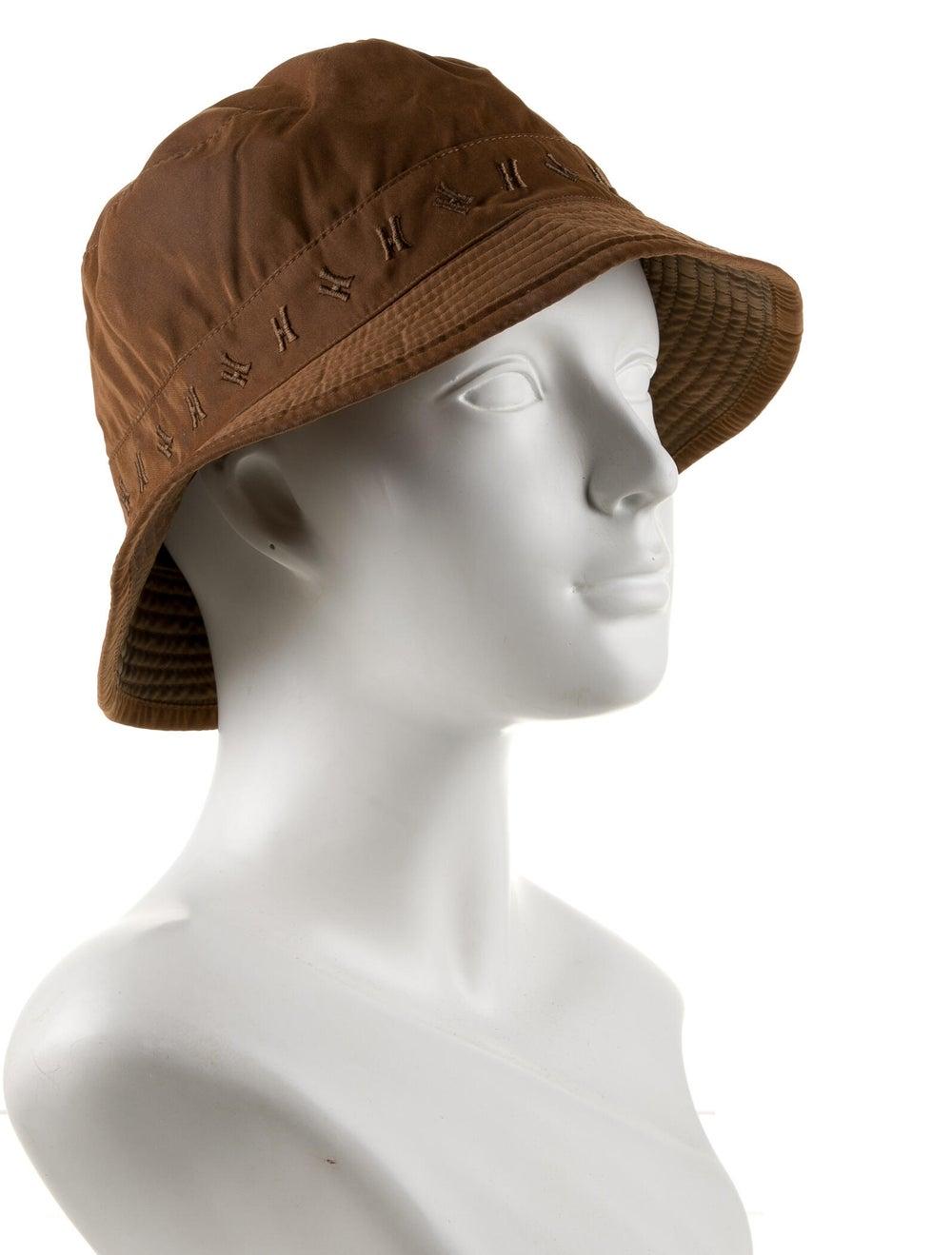 Hermès Logo Woven Bucket Hat Brown - image 3