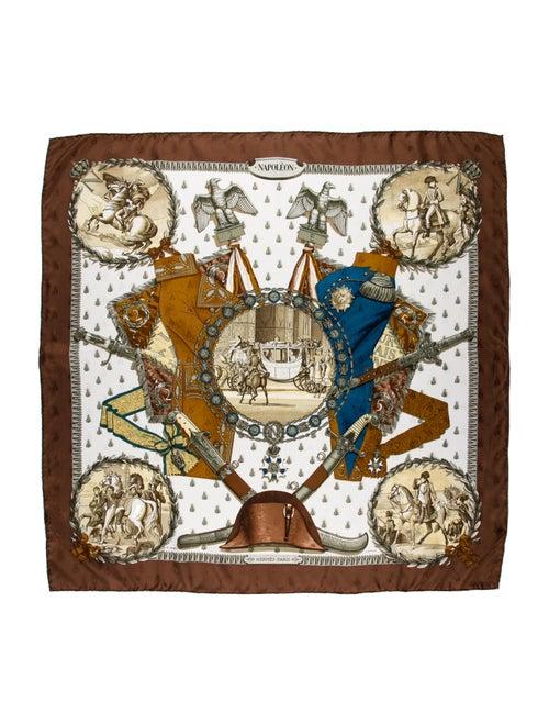 Hermès Napoléon Vintage Scarf Brown - image 1