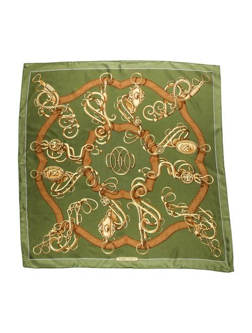 Hermès Silk Vintage Scarf Green - image 1