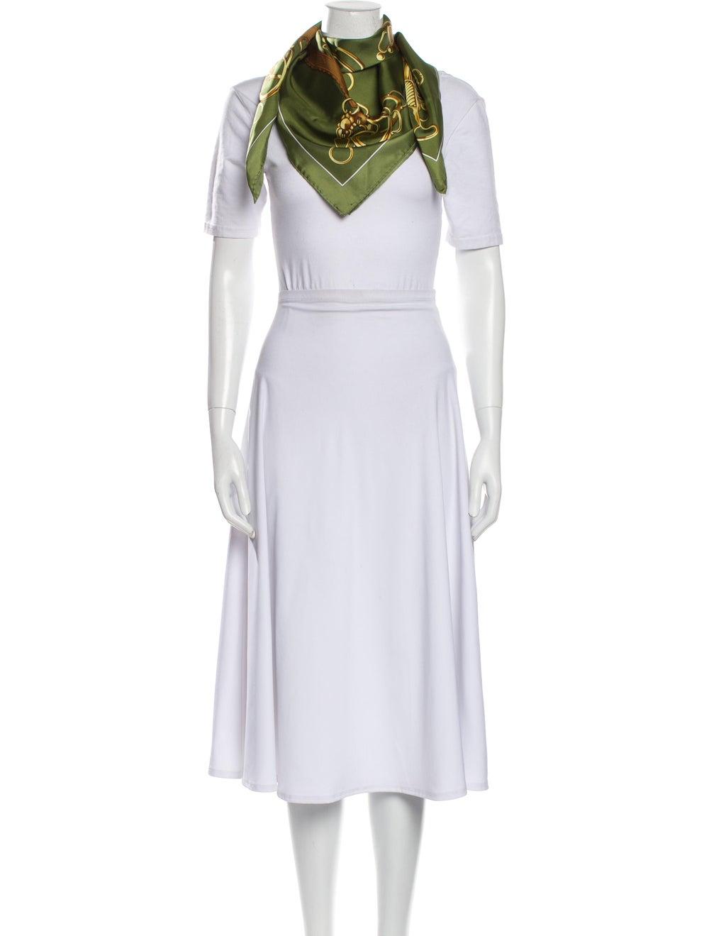 Hermès Silk Vintage Scarf Green - image 3