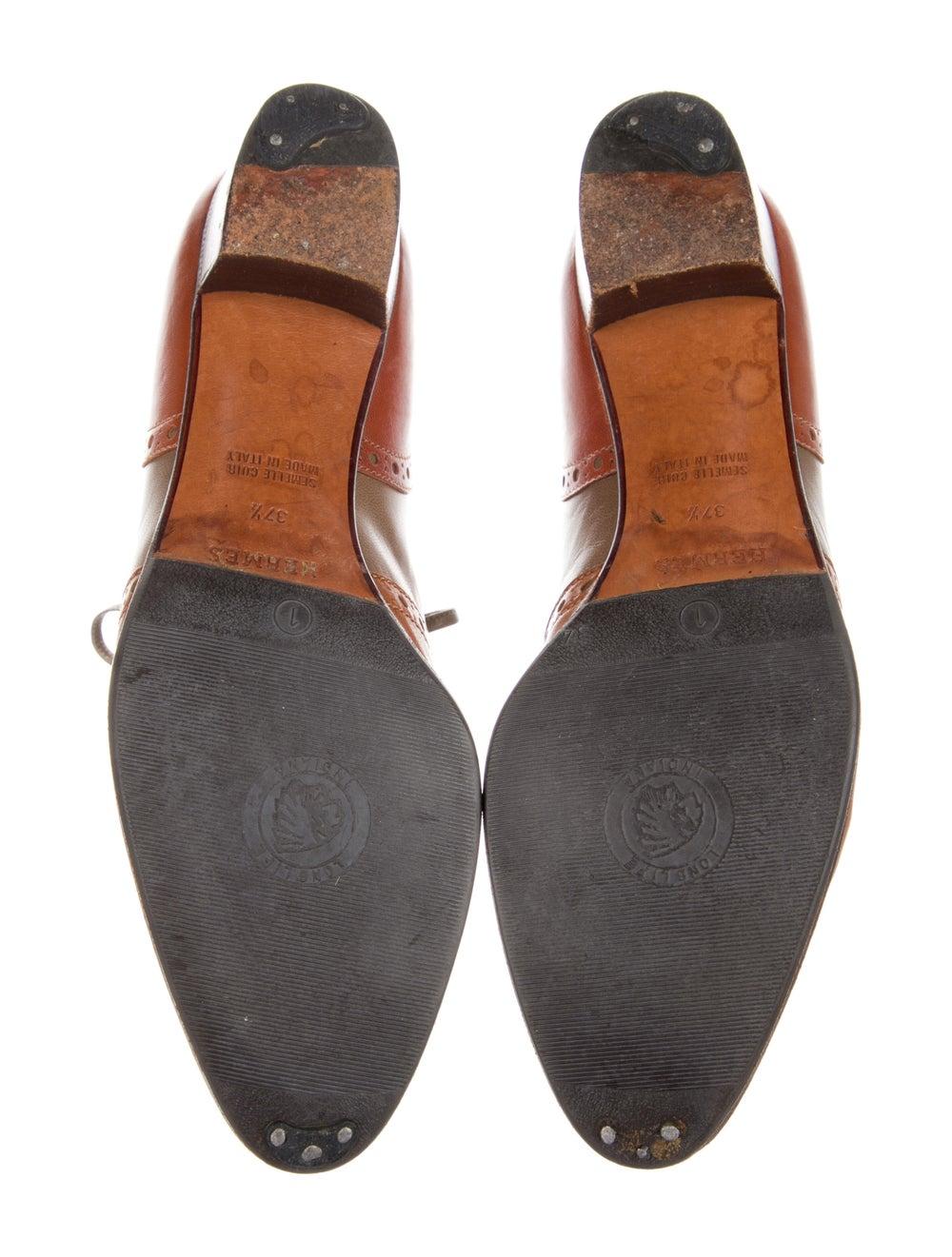 Hermès Vintage Leather Oxfords Brown - image 5
