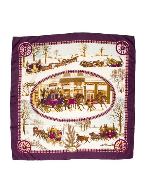 Hermès L'Hiver En Poste Scarf Purple
