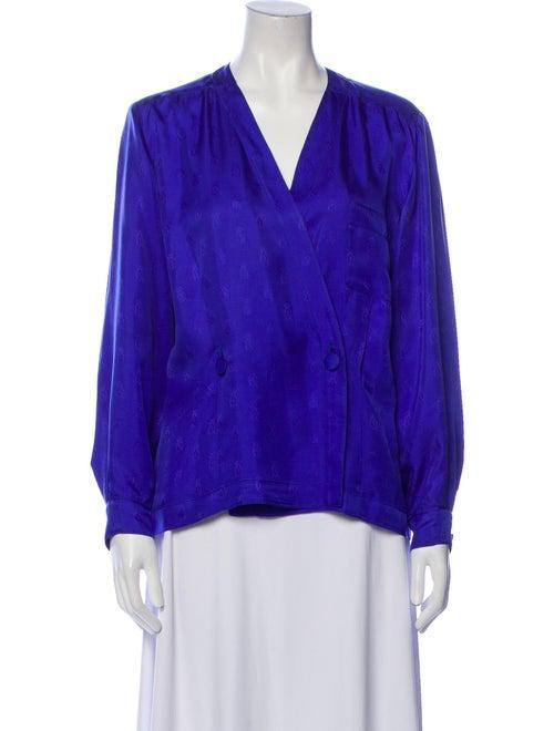 Hermès Vintage Silk Blouse Blue