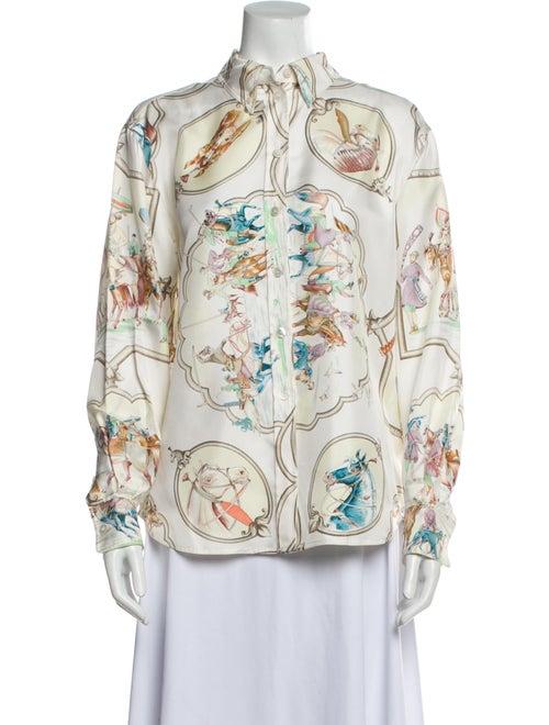 Hermès Vintage Silk Blouse
