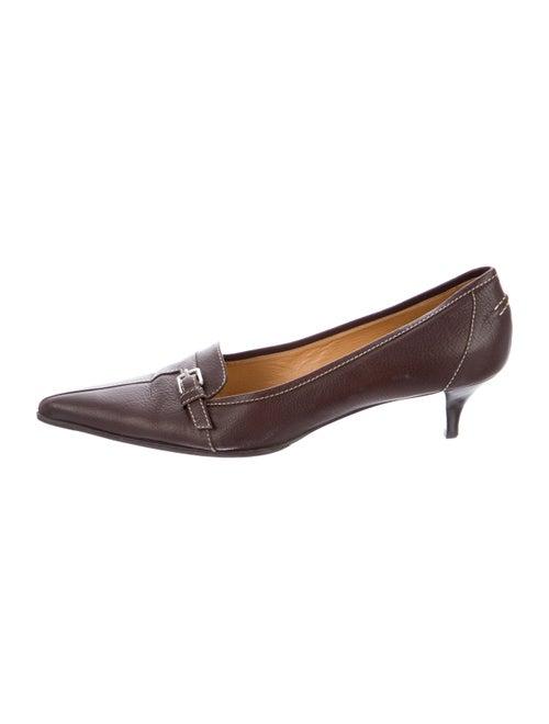 Hermès Vintage Leather Pumps Brown