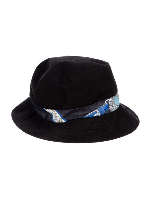 Hermès Printed Woven Bucket Hat Black