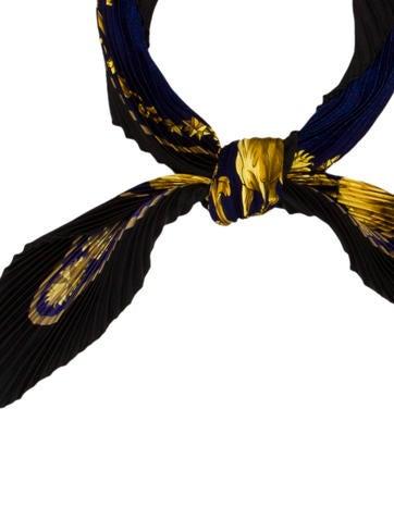 Cosmos Silk Plissé Scarf
