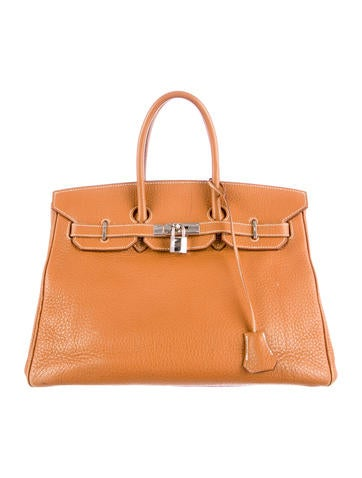 Birkin bag 35 light brown