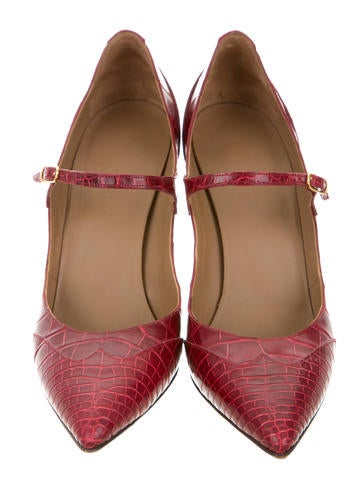 hermès alligator pointedtoe pumps  shoes  her60821