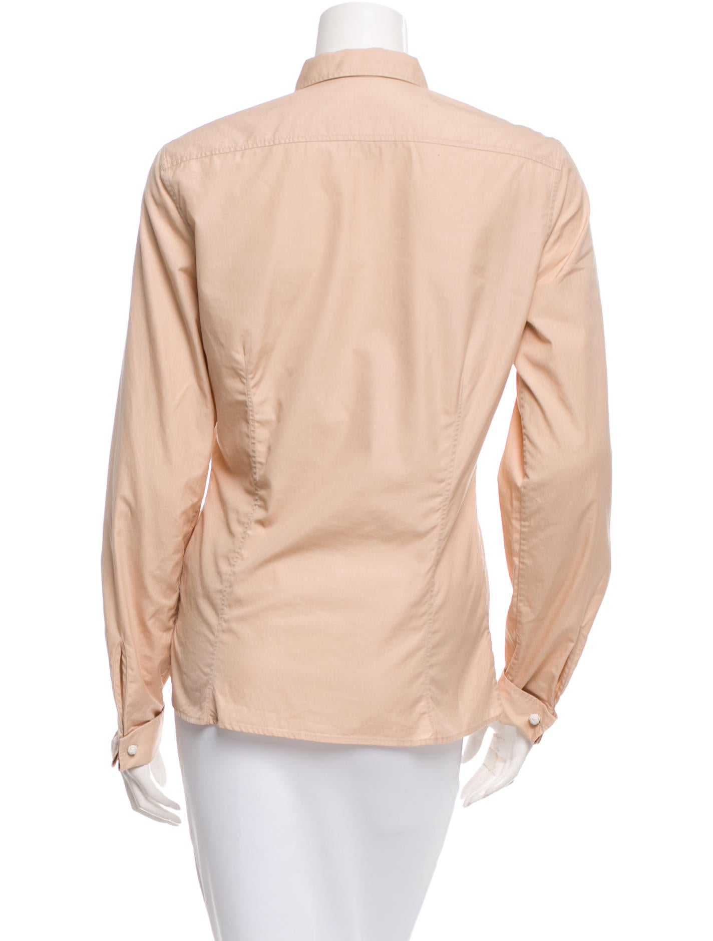 Herm S Fitted Button Up Top Clothing Her61824 The