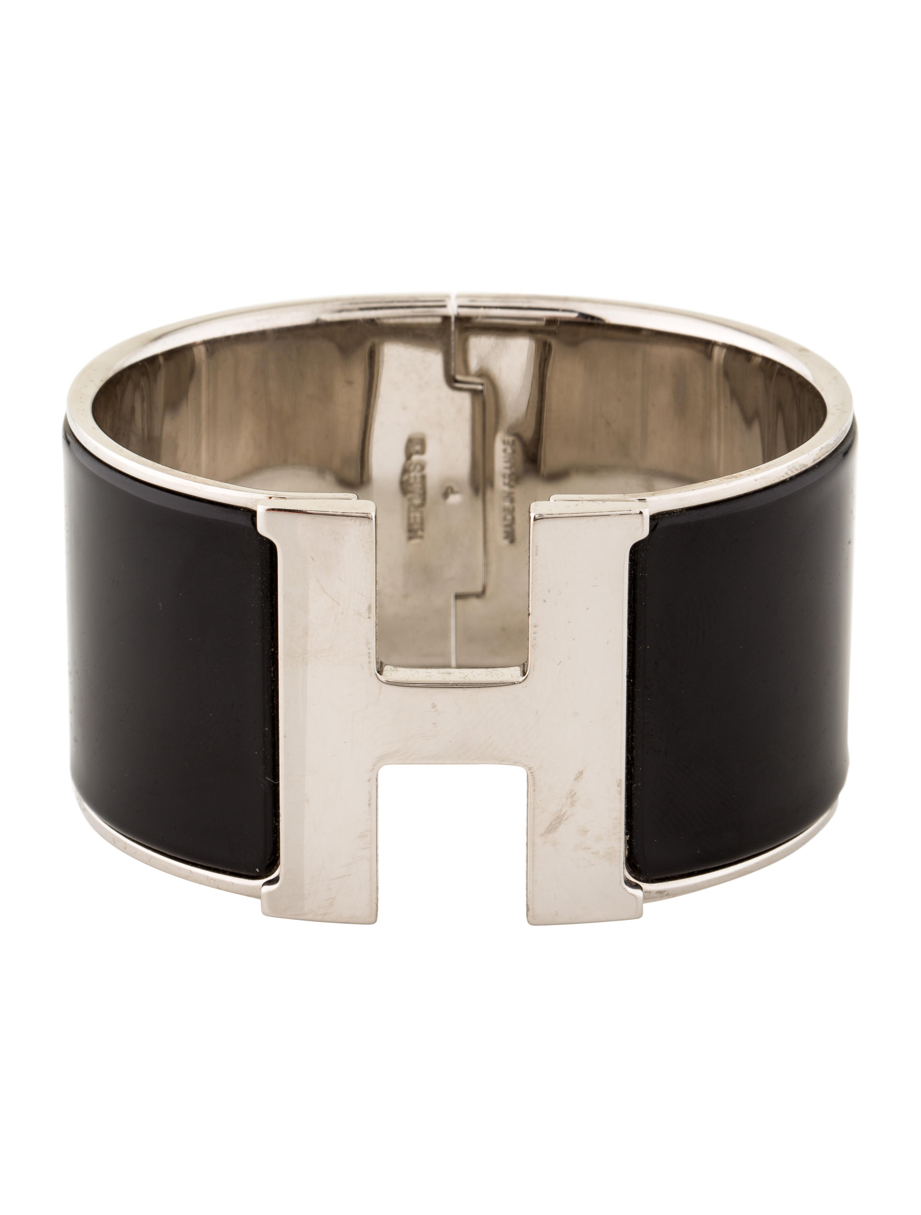 Hermès Extra Wide Clic Clac Bracelet HER68746  The RealReal