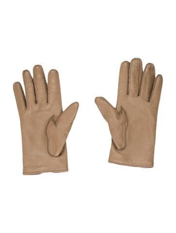 Leather Logo-Embellished Gloves