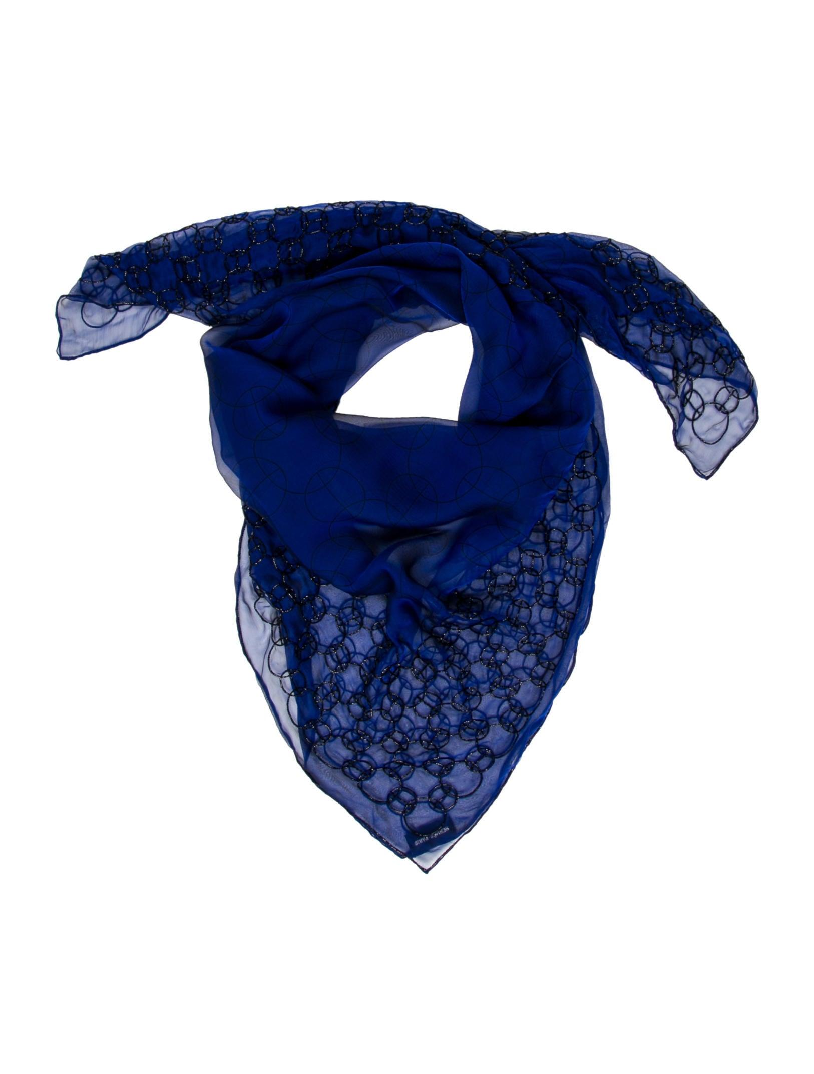 herm 232 s silk chiffon beaded scarf accessories her78164
