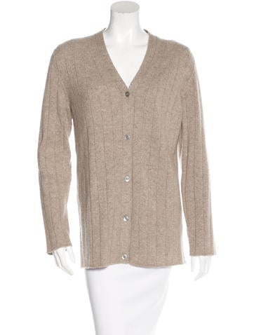 Hermès Cashmere Rib Knit Cardigan None