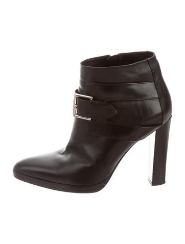 Hermès Leather Pointed-Toe Ankle Boots