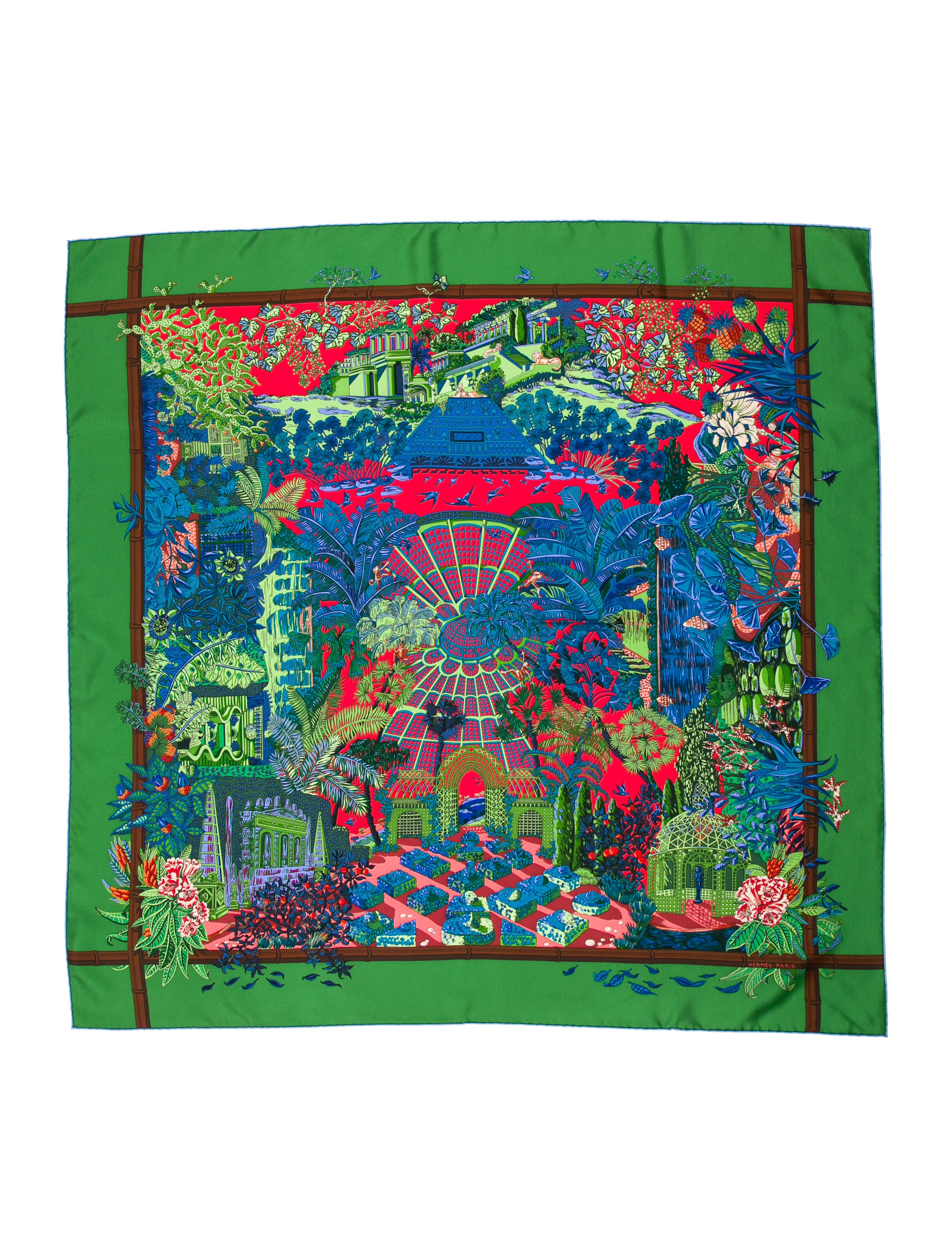 Herm s jardins d 39 hiver silk scarf accessories her79535 - Jardins dhiver com ...