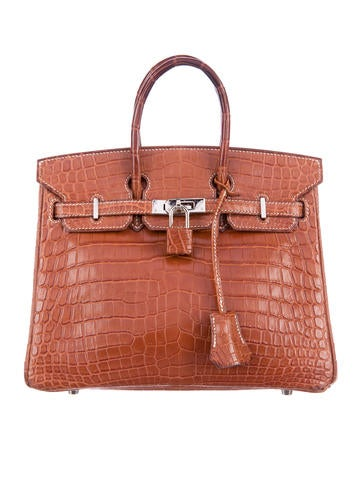 Crocodile Birkin bag 25