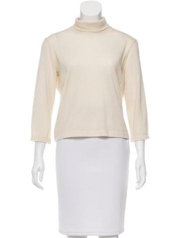 Hermès Cashmere Turtleneck Knit Top None