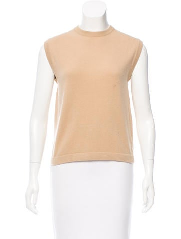 Hermès Cashmere Sleeveless Top None