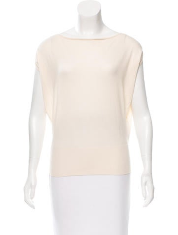 Hermès Cashmere & Silk-Blend Knit Top None