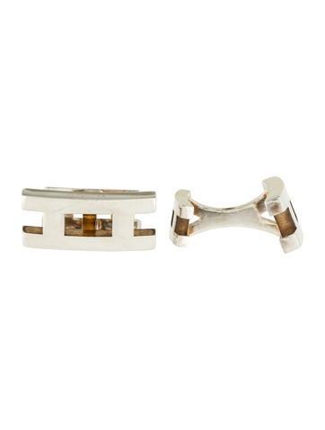Hermès Sterling Parallele Cufflinks