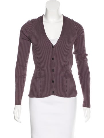 Hermès Rib-Knit Long Sleeve Cardigan None