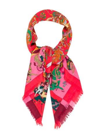 Hermès Fantaisies Indiennes Cashmere Silk Scarf None
