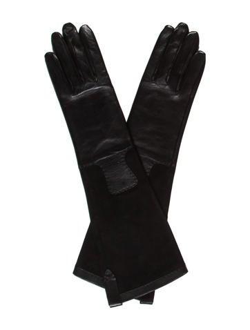 Lambskin & Suede Gloves w/ Tags
