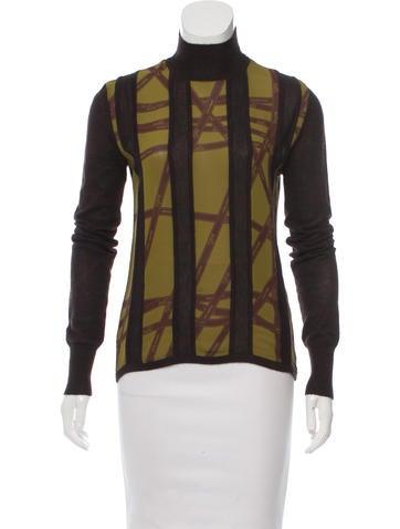 Hermès Silk & Cashmere Top None