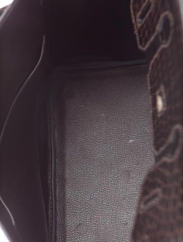 Shiny Porosus Crocodile Birkin 30