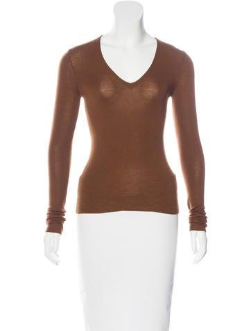 Hermès Cashmere Rib Knit Sweater None