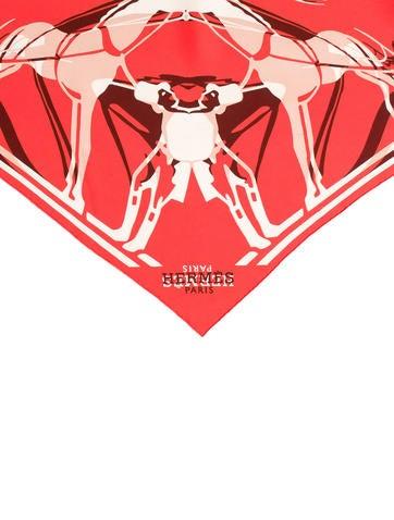 Calèche Élastique Silk Triangle Scarf