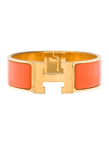 Herm s wide clic clac h bracelet bracelets her87507 the realreal - Clic clac couchage 140 ...