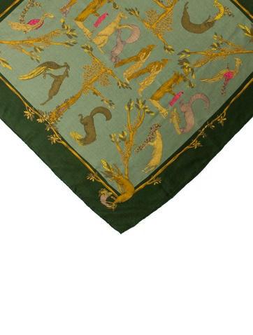 Alphabet III Cashmere Silk Scarf