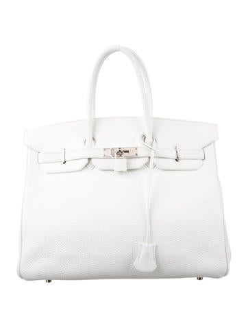 Birkin bag 35 white
