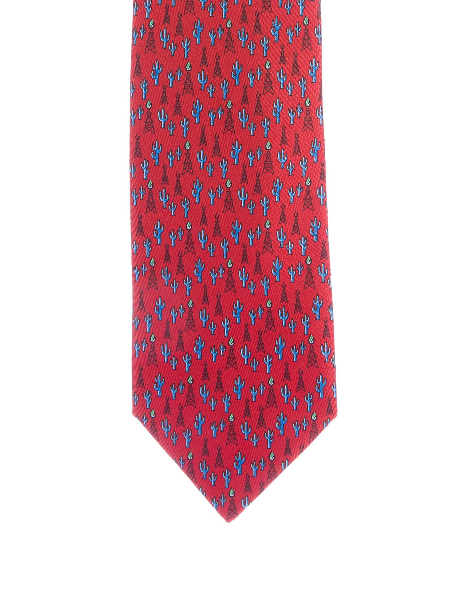 1badedb86661 Hermès Cactus & Pylon Print Silk Tie - Suiting Accessories ...