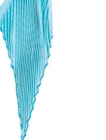 Iridescent Silk Plissé Scarf