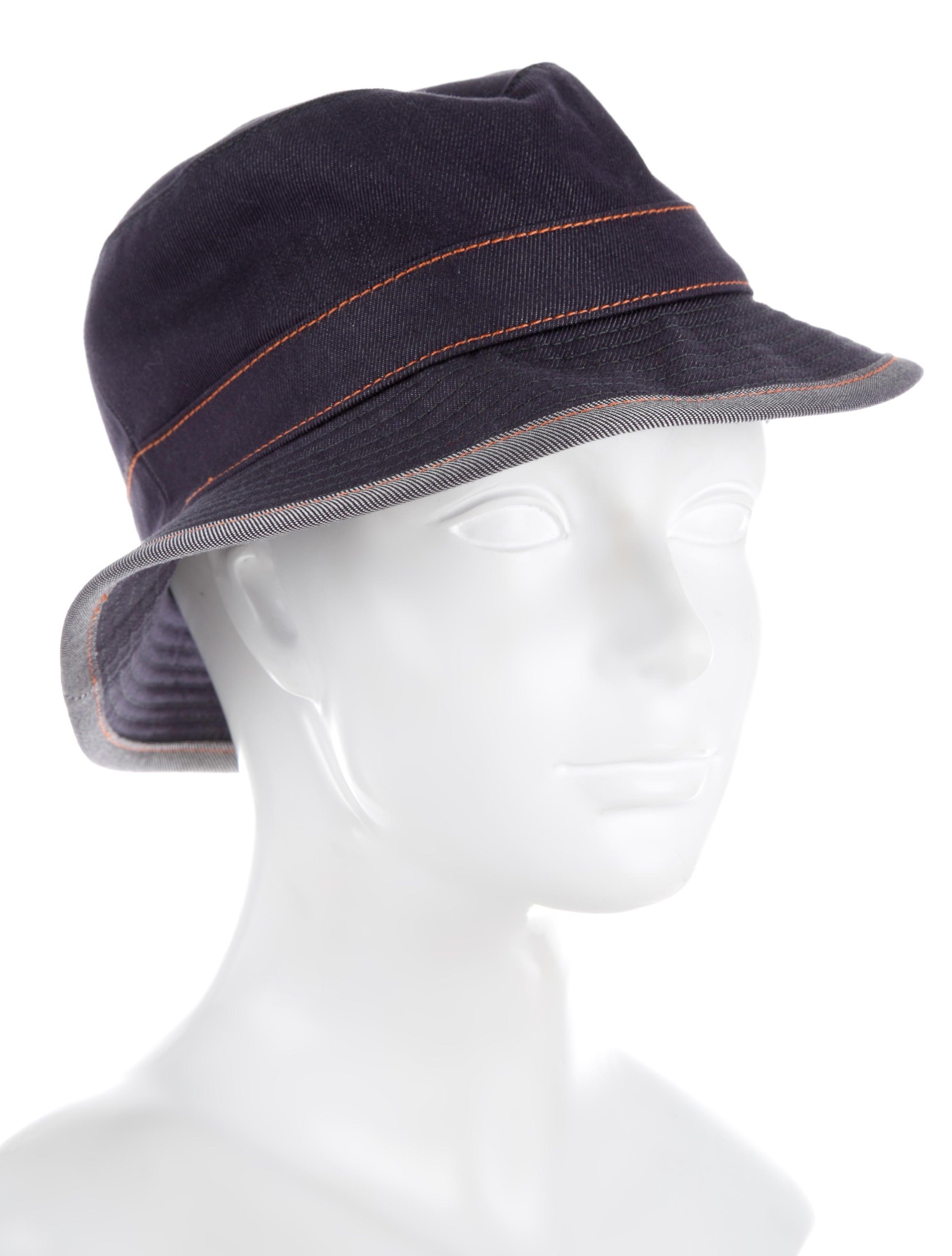 Herm 232 S Denim Bucket Hat Accessories Her89804 The
