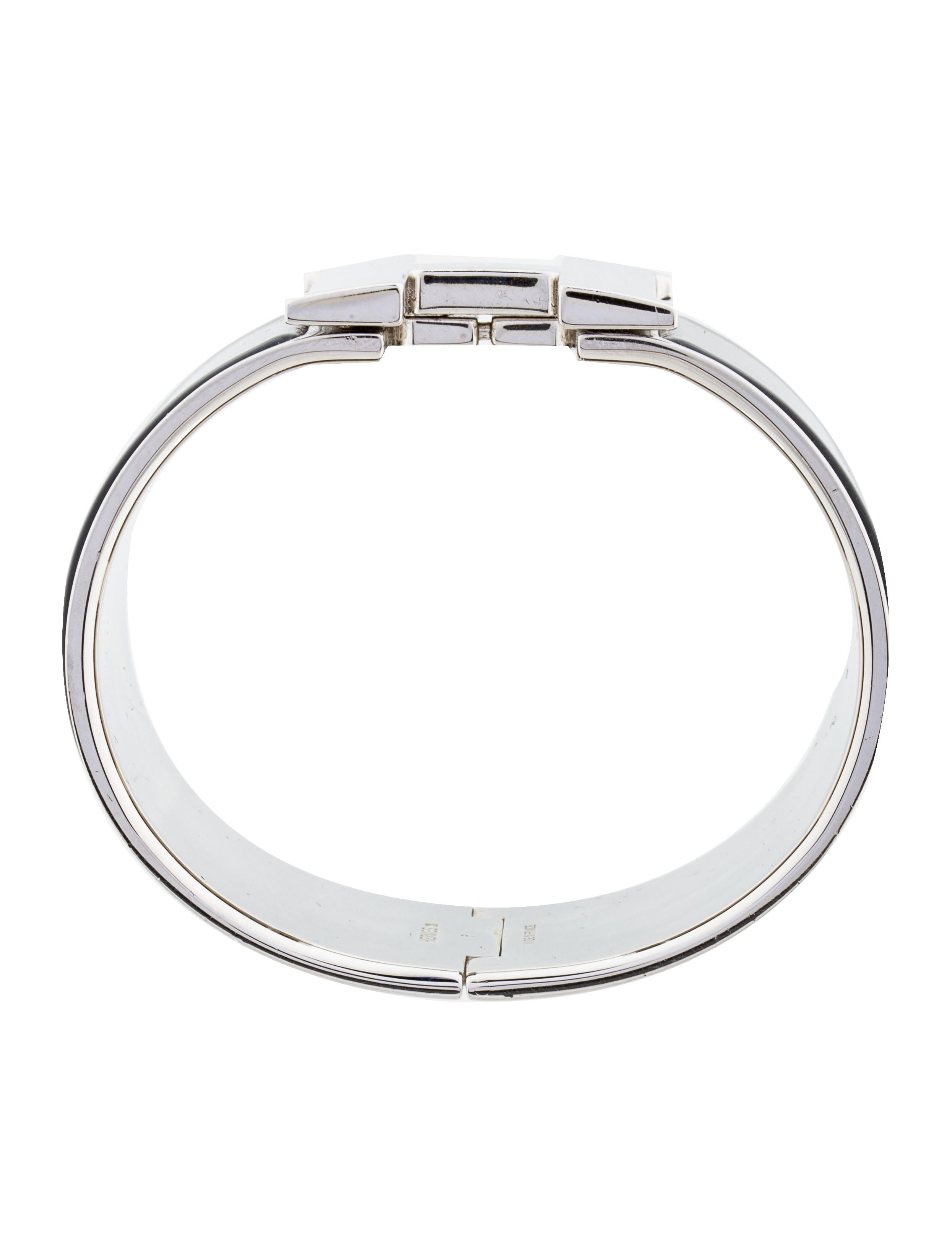 Herm s extra wide clic clac h bracelet bracelets her89821 the realreal - Dimensions clic clac ...