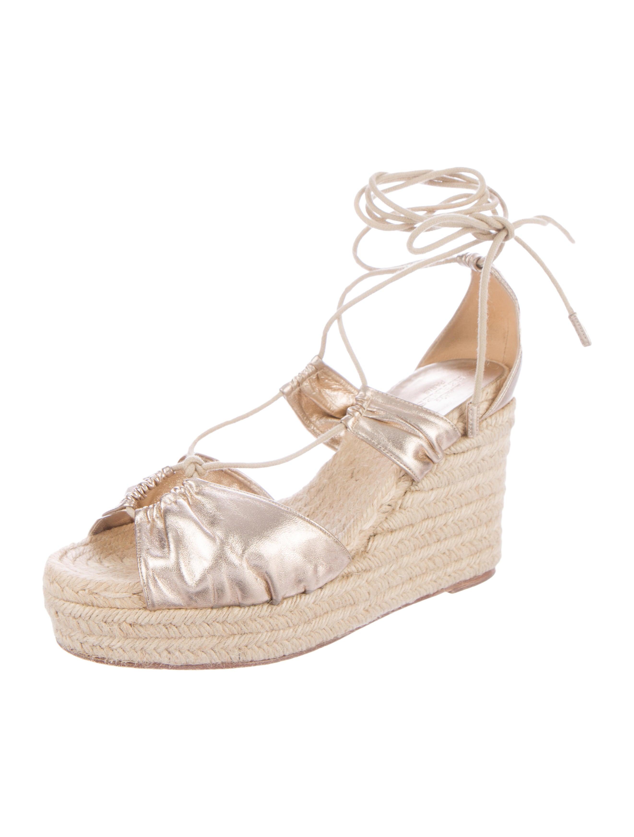 herm 232 s metallic espadrille wedge sandals shoes