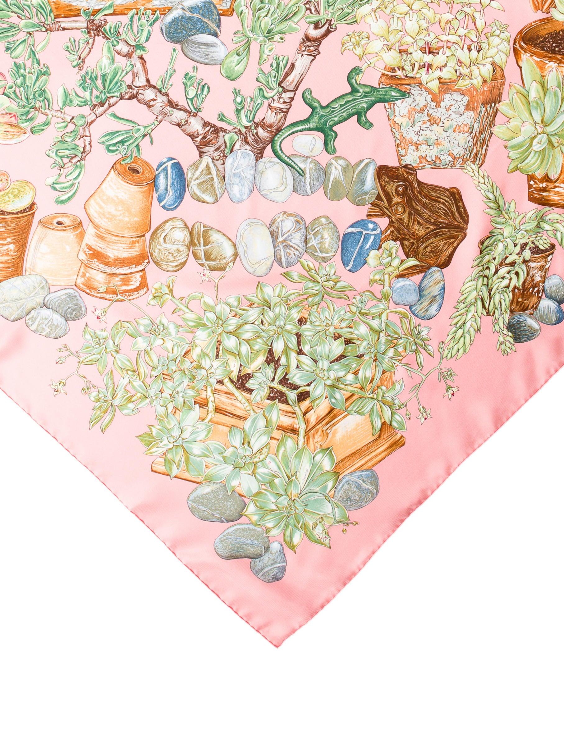 Herm s jardin secret silk scarf accessories her90349 for Jardin secret