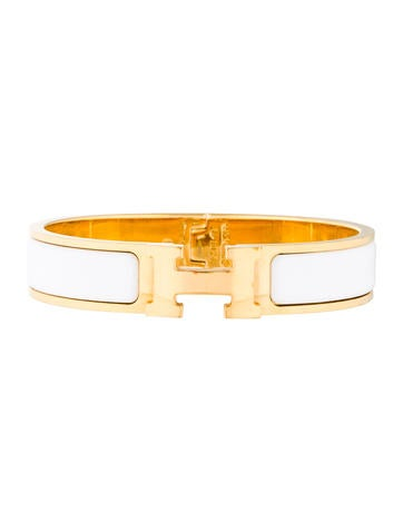Herm s narrow clic clac h bracelet bracelets her90612 the realreal - Clic clac couchage 140 ...